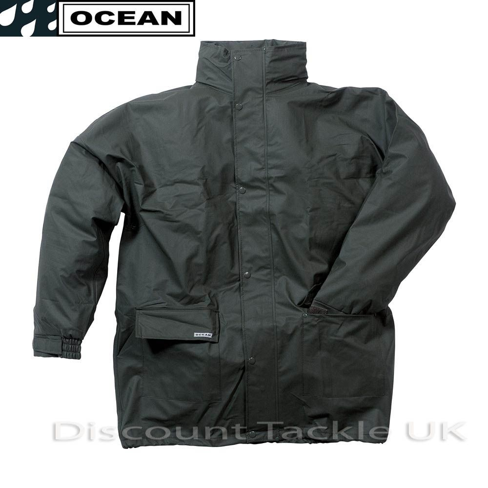 Ocean comfort stretch waterproof fishing jacket coat game for Waterproof fishing jacket