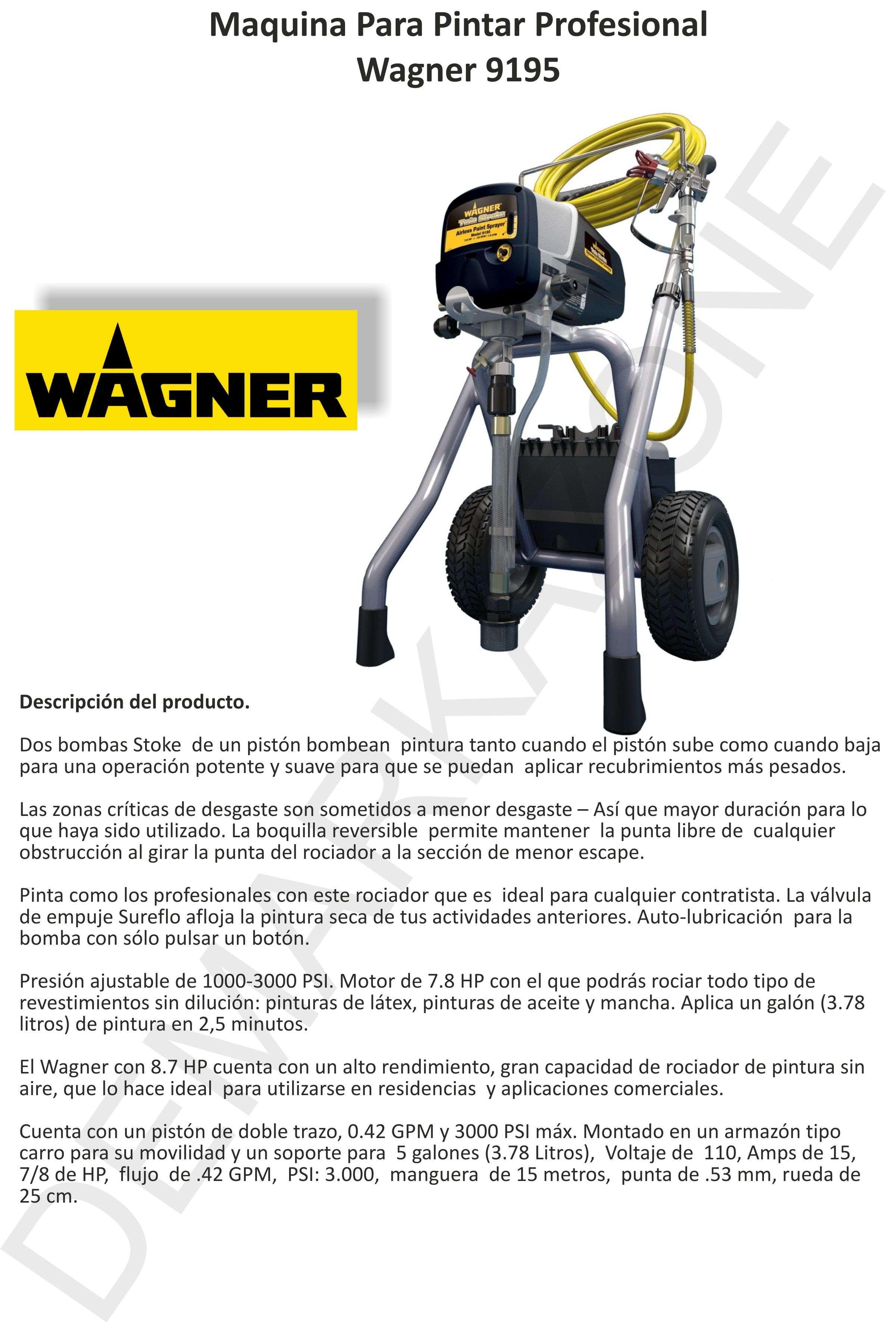 Maquina para pintar wagner 9195 airless pintura bfn otros - Maquinas para pintar ...