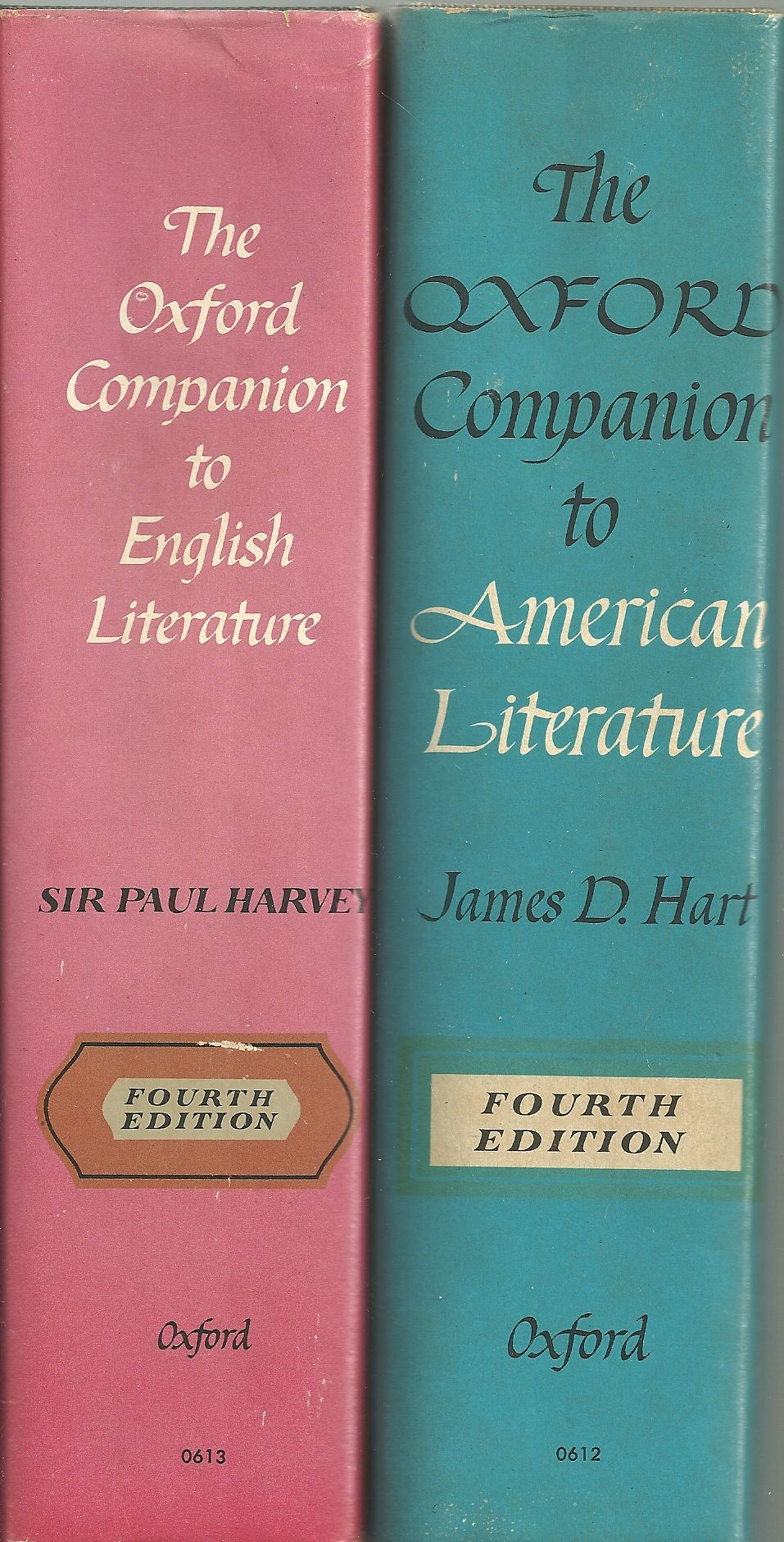 THE OXFORD COMPANION TO AMERICAN LITERATURE/THE OXFORD COMPANION TO ENGLISH LITERATURE (2 VOLS)