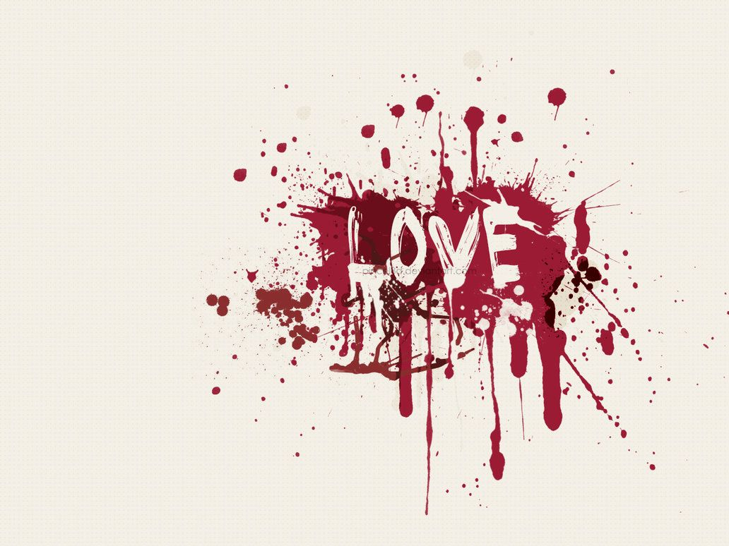 I Love You Wallpaper In Blood : 24 Imagenes de corazones, Amor y Fondos de Pantalla Estilo Grunge Imagenes