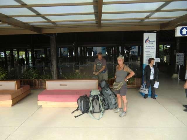 Flughafen Koh Samui angekommen..