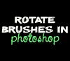 rotate brush in photoshop