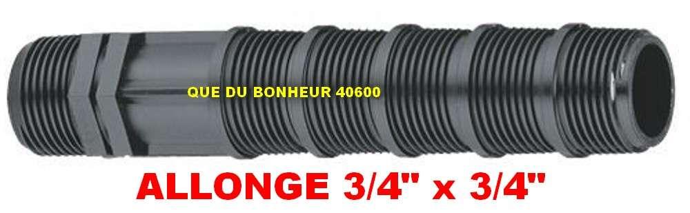 """ø 3//4/"""" x 1//2/"""" ARROSAGE AUTOMATIQUE JARDIN A2721 5 ALLONGES AJUSTABLES 15cm"""