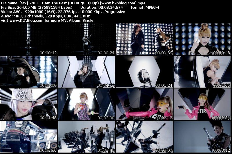 MV 2NE1 - I Am The Best (1080p Bugs) Thumbnail