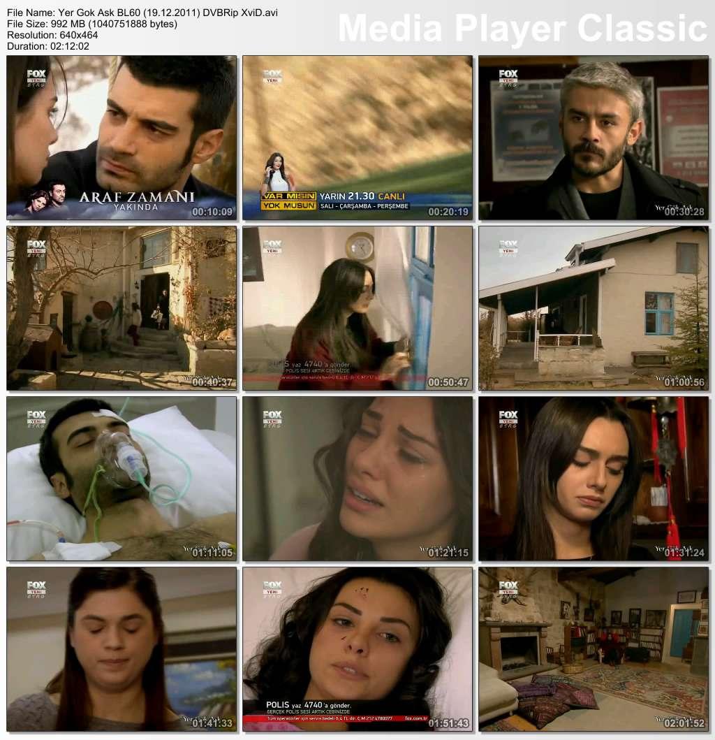Yer Gök Aşk Bölüm 60 DVBRip XviD Tek Link indir